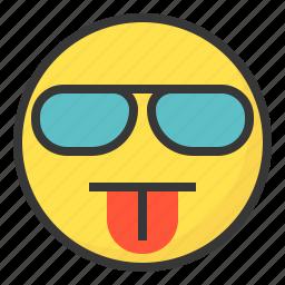 blah, cool, emoji, emoticon, expression, face icon