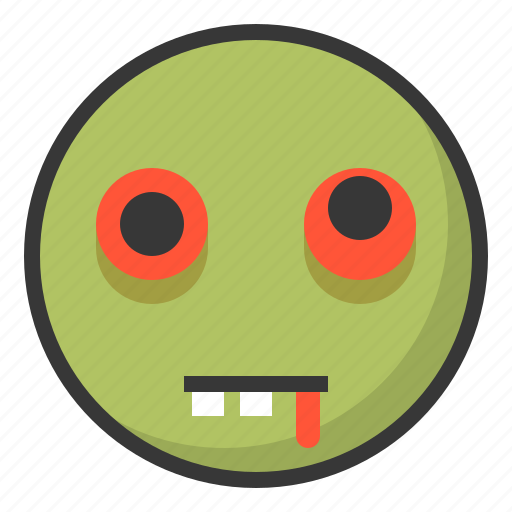 Emoji, emoticon, expression, face, zombie icon - Download on Iconfinder