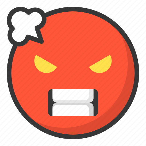 Emoji, emoticon, expression, face, angry icon - Download on Iconfinder