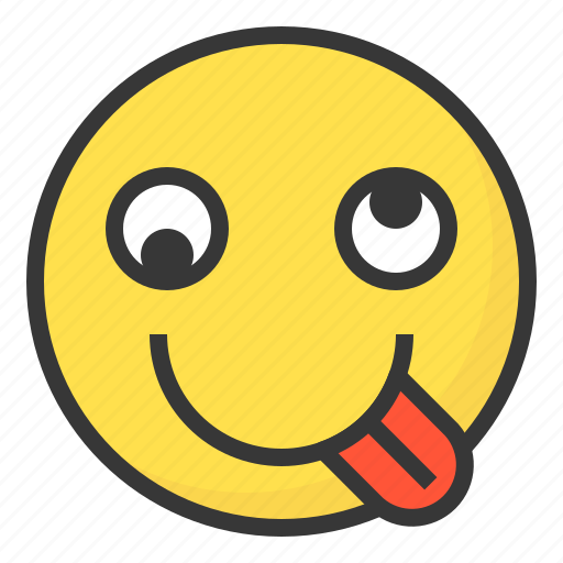 Emoji, emoticon, expression, face, crazy, hyper, silly icon - Download on Iconfinder