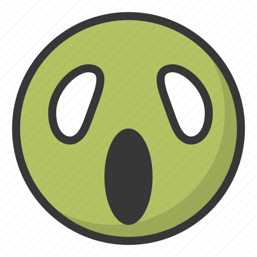 emoji, emoticon, expression, face, haunted icon