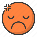 angry, annoyed, emoji, emoticon, expression, face icon