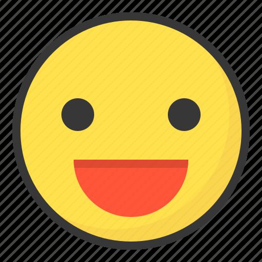 emoji, emoticon, expression, face, happy icon