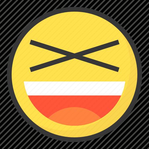emoji, emoticon, expression, face, xd icon