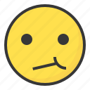 annoyed, depressed, disappointed, emoji, emoticon, expression, face icon