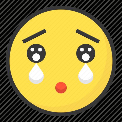 emoji, emoticon, expression, face, impressed icon