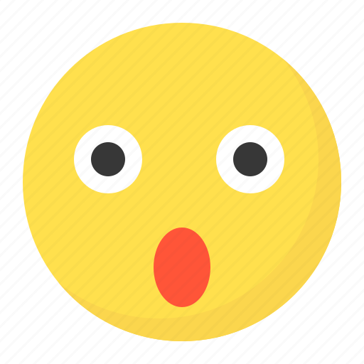 emoji, emoticon, expression, face, wow icon