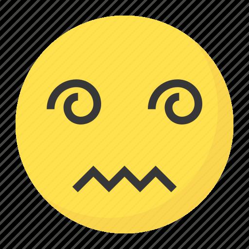 confused, drunk, emoji, emoticon, expression, face icon