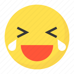 cry, emoji, emoticon, expression, face, laugh icon