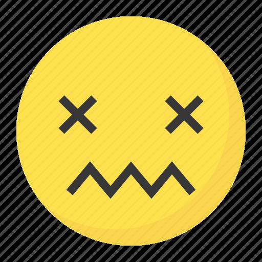 emoji, emoticon, expression, face, hurt icon