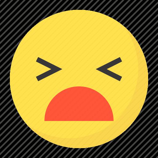 emoji, emoticon, expression, face, stupid icon