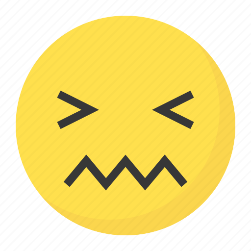 emoji, emoticon, expression, face, irritated icon