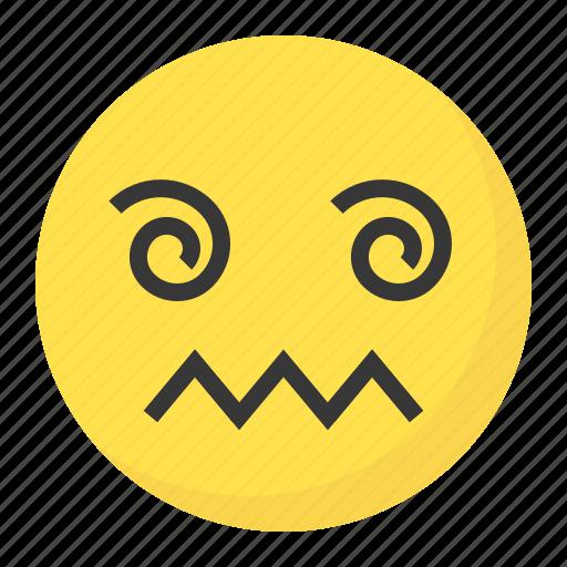 Confused, dizzy, emoji, emoticon, expression, face icon - Download on Iconfinder