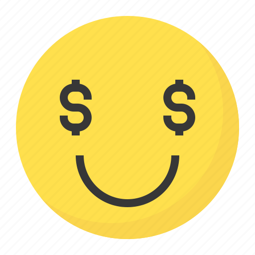 emoji, emoticon, expression, face, greedy icon