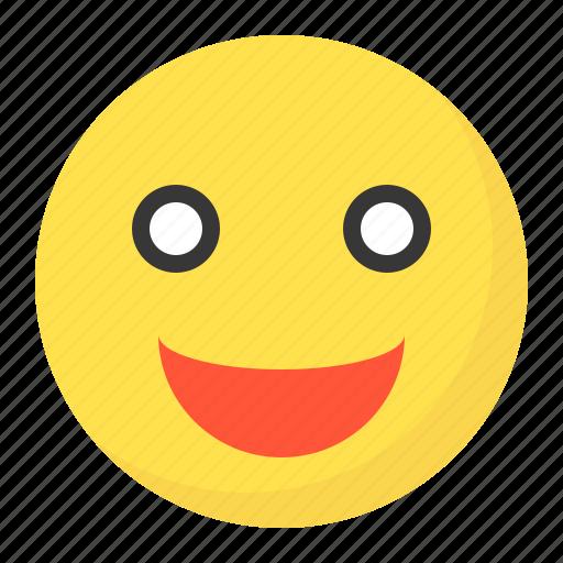emoji, emoticon, expression, face, shock icon