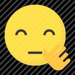 bye, emoji, emoticon, expression, face icon