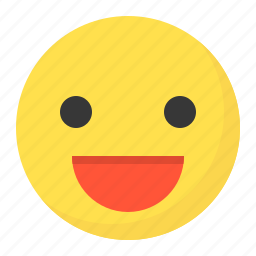 emoji, emoticon, expression, face, happy, smile icon