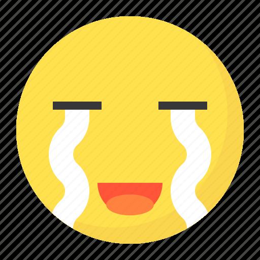 cry, emoji, emoticon, expression, face, sad icon