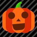 emoji, emoticon, halloween, lantern, pumpkin, shock, spooky icon