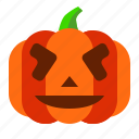 emoji, emoticon, funny, halloween, lantern, pumpkin, spooky icon