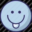 baffled emoticon, cheeky, emoticons, smiley icon