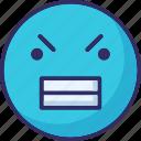 angry, gaze emoticon, loudly, sad icon