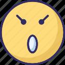 baffled emoticon, emoticons, smiley, surprises icon
