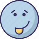 cheeky, emoticons, laugh, tongue icon