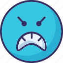 hyper, mind, rage, sad icon