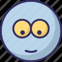 baffled emoticon, emoticons, smiley, stare emoticon icon