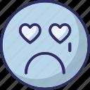 adoring, baffled emoticon, crying, weeping icon