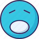 angry, emoticons, sad, weeping icon
