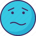 confused, emoticons, puzzle, sad icon