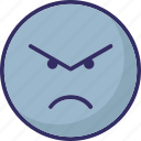 angry, emoticons, eyebrows, f, rage icon