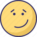emoticons, happy smiley, smiley, wink icon
