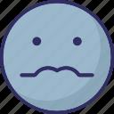 baffled emoticon, emoticons, nerdy, smiley icon