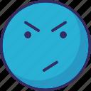 emoticons, gaze emoticon, smirking, stare emoticon icon