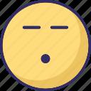 bored, emoticons, sad, speechless icon
