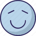 angel, emoticon, face, loved icon