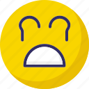 angry, emoticons, smiley, weeping icon