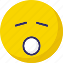 emoticons, sleep and open mouth, smiley, yawn icon