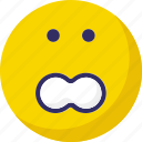 emoticons, smiley, stare emoticon, surprised icon