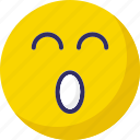 emoticons, sleep and open mouth, sleepy, sleepy and open mouth icon