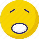 emoticons, face smiley, smiley, worried icon