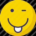 cheeky, emoticons, nodding, yawn icon