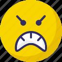 hyper, mind, rage, sad icon