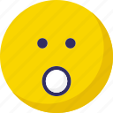 emoticons, face, surprise, surprised, yawn icon