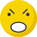 angry, emoticons, emotional, smiley icon