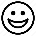 emoji, emoticon, expression, face, outline, smiley icon