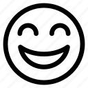 line, face, emoticon, smiley, expression, outline, emoji icon